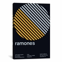Ramones at Fender's Ballroom: September 19th,1986 by Swissted Gallery Wrapped Canvas Artwork with Floating Frame - 19''W x 27''H x 1.5''D [SWI16-1PC6-26X18-FF01-ICAN]