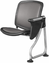 Ready Link Row Add-On Chair with Tablet - Charcoal [K211T-CHCL-SLV-MFO]