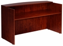 Reception Desk Shell - Mahogany [N169-M-FS-BOSS]