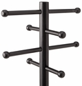 Advantus 17.75''W x 2.75''D x 68''H RTA Wood Entryway Coat Tree with 8 Hanging Pegs - Black [40807-FS-VF]