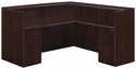 Saratoga Right or Left Reception L Desk - Mocha [7141-6667-FS-DMI]