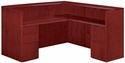 Saratoga Right or Left Reception L Desk - Pinot Cherry [7140-6667-FS-DMI]