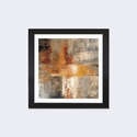 Silver and Amber Crop by Silvia Vassileva Artwork on Fine Art Paper with Black Matte Hardwood Frame - 16''W x 16''H x 1''D [WAC1393-1PFA-16X16-FM01-ICAN]