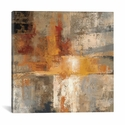 Silver and Amber Crop by Silvia Vassileva Gallery Wrapped Canvas Artwork - 18''W x 18''H x 0.75''D [WAC1393-1PC3-18X18-ICAN]