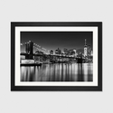 Silver City by Katherine Gendreau Artwork on Fine Art Paper with Black Matte Hardwood Frame - 24''W x 16''H x 1''D [WAC2484-1PFA-24X16-FM01-ICAN]