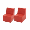 SoftZone® 2 Pack Fully Assembled Red Youth Chair - 18''W x 24''D x 24''H [ELR-12648-ECR]
