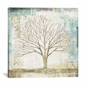Solitary Tree Collage by All That Glitters Gallery Wrapped Canvas Artwork - 18''W x 18''H x 0.75''D [WAC3226-1PC3-18X18-ICAN]