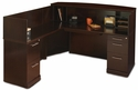 Sorrento 72''W Reception Desk with Veneer Counter and Left Hand Return - Espresso [SRCSLESP-MAY]