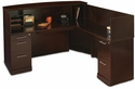 Sorrento 72''W Reception Desk with Veneer Counter and Right Hand Return - Espresso [SRCSRESP-MAY]