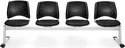 Stars 4-Beam Seating with 4 Vinyl Seats - Black [324-VAM-606-MFO]