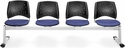 Stars 4-Beam Seating with 4 Fabric Seats - Colonial Blue [324-2204-MFO]
