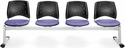 Stars 4-Beam Seating with 4 Fabric Seats - Lavender [324-2202-MFO]