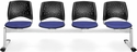 Stars 4-Beam Seating with 4 Fabric Seats - Royal Blue [324-2210-MFO]