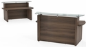 Sterling 72'' W Reception Station with Glass Transaction Counter - Textured Brown Sugar [STRC72TDBS-FS-MAY]