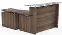 Sterling 72'' W Reception Station with Single Door Lateral File Cabinet - Textured Brown Sugar [STG34TBS-FS-MAY]