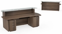 Sterling 96'' W Reception Station with One Box Box File and One File File Pedestal - Textured Brown Sugar [STG30TBS-FS-MAY]