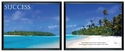 Advantus 30''W x 24''L Framed Panorama Motivational Art Prints Two Pack - Success with Island Beach [78166-FS-VF]