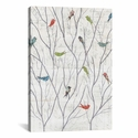 Summer Birds Background I by Courtney Prahl Gallery Wrapped Canvas Artwork with Floating Frame - 27''W x 41''H x 1.5''D [WAC3834-1PC6-40X26-FF01-ICAN]