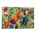 Summer Floral V by Silvia Vassileva Gallery Wrapped Canvas Artwork - 26''W x 18''H x 0.75''D [WAC1388-1PC3-26X18-ICAN]