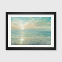 Sunrise by Danhui Nai Artwork on Fine Art Paper with Black Matte Hardwood Frame - 24''W x 16''H x 1''D [WAC3748-1PFA-24X16-FM01-ICAN]