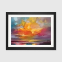 Sunset by Scott Naismith Artwork on Fine Art Paper with Black Matte Hardwood Frame - 24''W x 16''H x 1''D [SNH79-1PFA-24X16-FM01-ICAN]