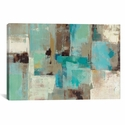 Teal and Aqua Reflections #2 by Silvia Vassileva Oversized Gallery Wrapped Canvas Artwork - 60''W x 40''H x 1.5''D [WAC1467-1PC6-60X40-ICAN]