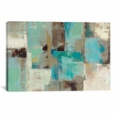 Teal and Aqua Reflections No. 2 by Silvia Vassileva Gallery Wrapped Canvas Artwork - 26''W x 18''H x 0.75''D [WAC1467-1PC3-26X18-ICAN]