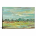 Teal Forest by Sylvia Vassileva Gallery Wrapped Canvas Artwork with Floating Frame - 27''W x 19''H x 1.5''D [WAC4862-1PC6-26X18-FF01-ICAN]
