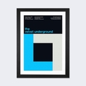 The Velvet Underground at The Paramount Theatre: January 9th,1970 by Swissted Artwork on Fine Art Paper with Black Matte Hardwood Frame - 16''W x 24''H x 1''D [SWI28-1PFA-24X16-FM01-ICAN]