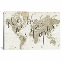The World Is Your Oyster by Sara Zieve Miller Gallery Wrapped Canvas Artwork with Floating Frame - 27''W x 19''H x 1.5''D [WAC3127-1PC6-26X18-FF01-ICAN]