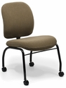 Top Side Chair with Low Backrest and Four Leg Base with Casters - Grade B [TP-L-4-GRDB-FS-ADI]