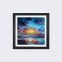 Uist Cloud II by Scott Naismith Artwork on Fine Art Paper with Black Matte Hardwood Frame - 16''W x 16''H x 1''D [SNH54-1PFA-16X16-FM01-ICAN]