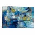 Ultramarine Waves III by Sylvia Vassileva Gallery Wrapped Canvas Artwork with Floating Frame - 27''W x 19''H x 1.5''D [WAC4863-1PC6-26X18-FF01-ICAN]