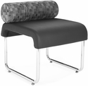 Uno Pillow Back Seat - Nickle Back with Black Seat [421-NCKL-PU606-MFO]