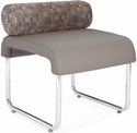 Uno Pillow Back Seat - Plum Back with Taupe Seat [421-PLUM-PU607-MFO]