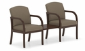 Weston Series Guest Chairs with Connecting Center Table [W2311G5-FS-RO]