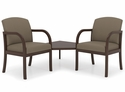 Weston Series Guest Chairs with Connecting Corner Table [W2321G5-FS-RO]