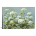 White Hydrangea Garden by Danhui Nai Gallery Wrapped Canvas Artwork - 26''W x 18''H x 0.75''D [WAC226-1PC3-26X18-ICAN]
