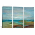 Wispy Clouds by Silvia Vassileva Triptych Gallery Wrapped Canvas Artwork - 60''W x 40''H x 0.75''D [WAC1460-3PC3-60X40-ICAN]