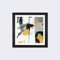 Yellow Catalina I by Mike Schick Artwork on Fine Art Paper with Black Matte Hardwood Frame - 16''W x 16''H x 1''D [WAC1784-1PFA-16X16-FM01-ICAN]
