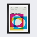 Ziggy Stardust at Rainbow Theatre: August 19th,1972 by Swissted Artwork on Fine Art Paper with Black Matte Hardwood Frame - 16''W x 24''H x 1''D [SWI30-1PFA-24X16-FM01-ICAN]