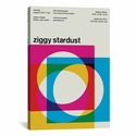 Ziggy Stardust at Rainbow Theatre: August 19th,1972 by Swissted Gallery Wrapped Canvas Artwork with Floating Frame - 27''W x 41''H x 1.5''D [SWI30-1PC6-40X26-FF01-ICAN]