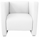 Zurich Indoor Faux Leather Arm Chair - White [SS-ARM-CHAIR-WHITE-FLS]