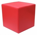 Zurich Indoor Faux Leather Cube Side Table - Red [SS-CUBE-SIDE-TABLE-RED-FLS]