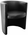 Zurich Indoor Faux Leather Ring Arm Chair - Black [SS-RING-ARM-CHAIR-BLACK-FLS]
