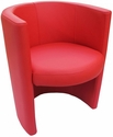 Zurich Indoor Faux Leather Ring Arm Chair - Red [SS-RING-ARM-CHAIR-RED-FLS]