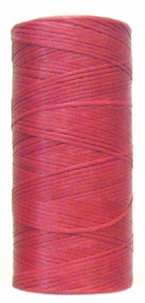 Waxed tie string 250 yard RED narrow
