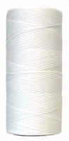 Waxed tie string 250 yard WHITE narrow