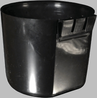 #70 cup  Flat bottom, 1/2 gallon, 7/8 round