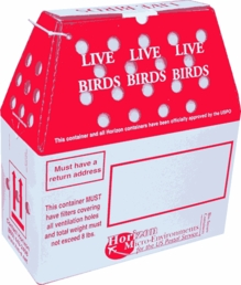 Cardboard Bird Boxes, Shippers & Carriers